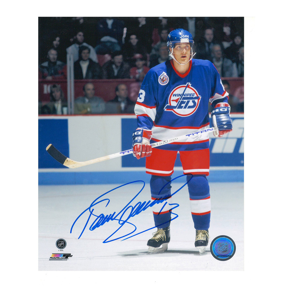 TEEMU SELANNE Signed Winnipeg Jets 8 X 10 Photo - 70229 Anaheim Ducks