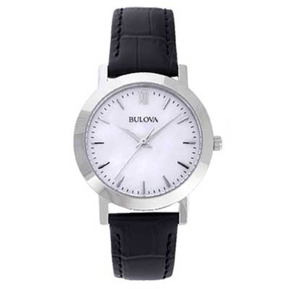 Women's Bulova Watch with Mother-of-Pearl Dial Boxed Set (Model: 96X132)