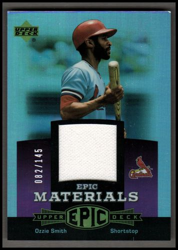 Photo of 2006 Upper Deck Epic Materials Light Purple #OS2 Ozzie Smith Jsy/145