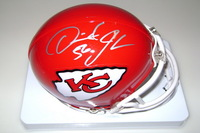 CHIEFS - DERRICK JOHNSON SIGNED CHIEFS MINI HELMET