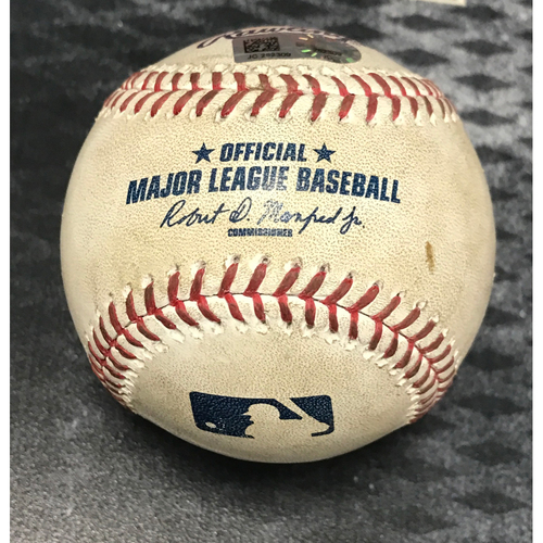 Photo of Game-Used Baseball - Jake Lamb Triple & Chris Owings Single vs. Miguel Gonzalez