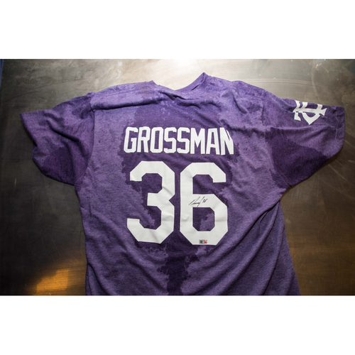 Photo of Autographed Robbie Grossman Prince Night Batting Practice T-Shirt