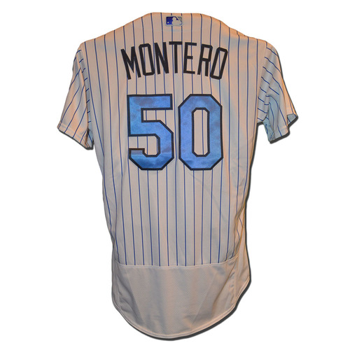 Photo of Rafael Montero #50 - Game Used Father's Day Jersey - Mets vs. Nationals - 6/18/17
