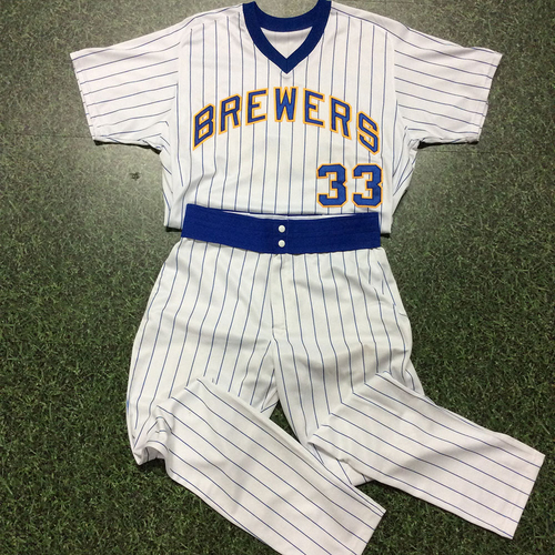 Photo of Brett Phillips 1982 Reunion Weekend Uniform - 1st Career HR (7/16/17)