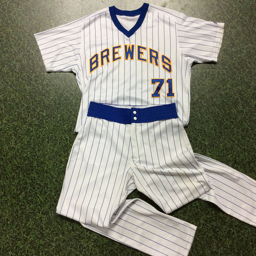Photo of Josh Hader 1982 Reunion Weekend Game-Used Uniform