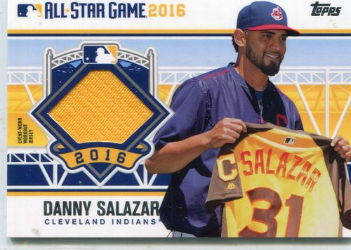 Photo of 2016 Topps Update All-Star Stitches #ASTITDS Danny Salazar -- Indians post-season