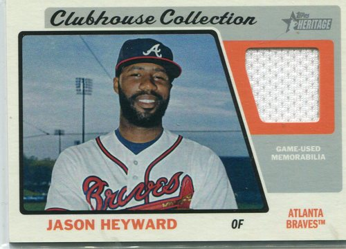 Photo of 2015 Topps Heritage Clubhouse Collection Relics Jason Heyward -- Cubs post-season