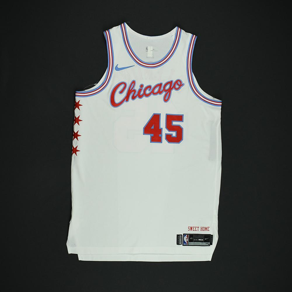 Denzel Valentine - Chicago Bulls - Game-Worn 'City' Jersey - 2017-18 Season