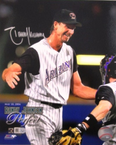 Photo of Randy Johnson Autographed Perfect Game 8x10