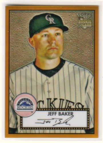 Photo of 2007 Topps 52 Chrome Gold Refractors #19 Jeff Baker