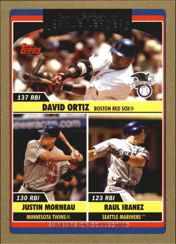 Photo of 2006 Topps Update Gold #204 D.Ortiz/J.Morneau/R.Ibanez LL