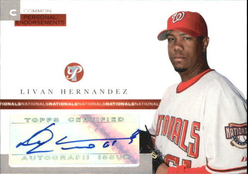 Photo of 2005 Topps Pristine Personal Endorsements Common #LH Livan Hernandez