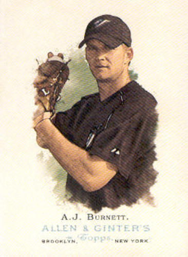 Photo of 2006 Topps Allen and Ginter #179 A.J. Burnett