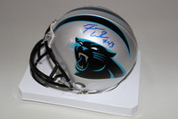 PANTHERS - FOZZY WHITTAKER SIGNED PANTHERS MINI HELMET