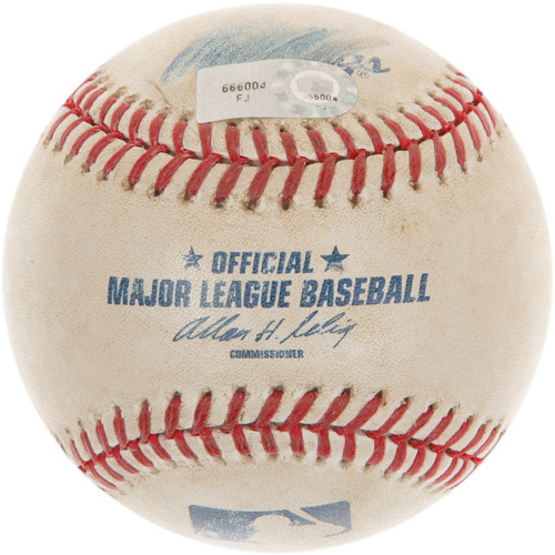 Photo of Game-Used Baseball from Mariano Rivera's 601st Career Save Game