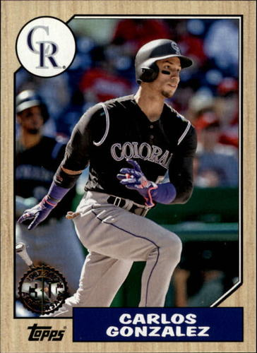 Photo of 2017 Topps '87 Topps #874 Carlos Gonzalez