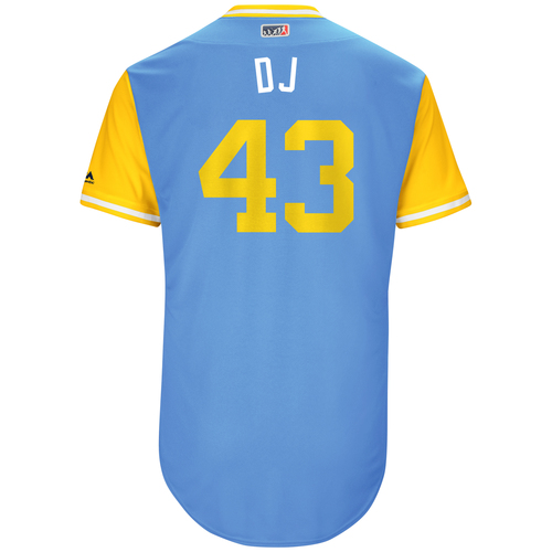 "Photo of Dan ""DJ"" Jennings Tampa Bay Rays Game-Used Players Weekend Jersey"
