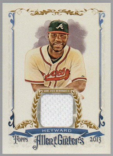 Photo of 2013 Topps Allen and Ginter Relics #JH Jason Heyward Cubs post-season
