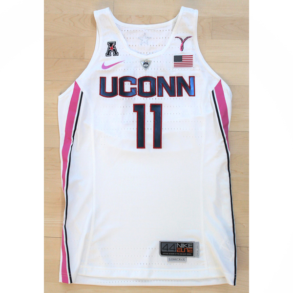 UConn 2018 Pink Game Worn Special Edition #11 Nike Women's Basketball Jersey
