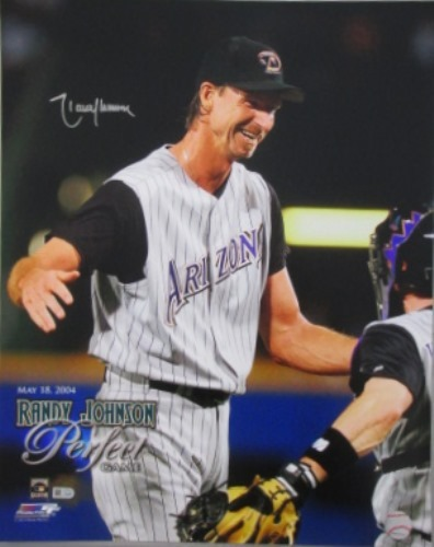 Photo of Randy Johnson Autographed Perfect Game 16x20