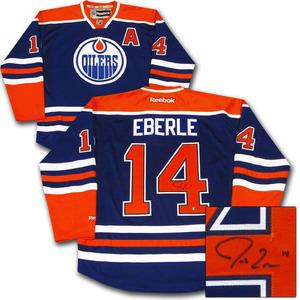 Jordan Eberle Autographed Edmonton Oilers Jersey