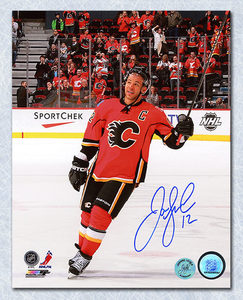 Jarome Iginla Calgary Flames Autographed Saluting the Fans 16x20 Photo