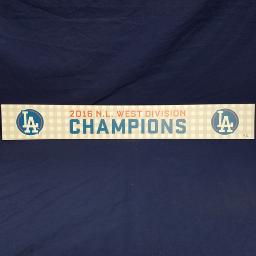 Photo of Los Angeles Dodgers 2016 Team-Issued NL West Division Champions Locker Tag