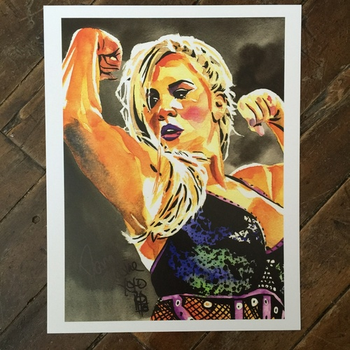 Photo of Dana Brooke SIGNED 11 x 14 Rob Schamberger Print