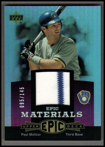 Photo of 2006 Upper Deck Epic Materials Light Purple #PM2 Paul Molitor Jsy/145
