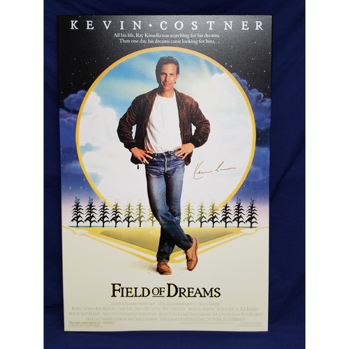 Photo of Kershaw's Challenge: Field of Dream Canvas Autographed by Kevin Costner