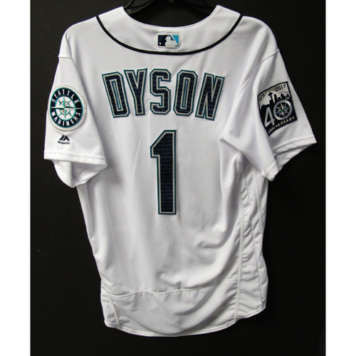 Photo of Mariners Care Hurricane Irma Relief - Jarrod Dyson Team-Issued Marineros Jersey 9-9-2017 Size 42