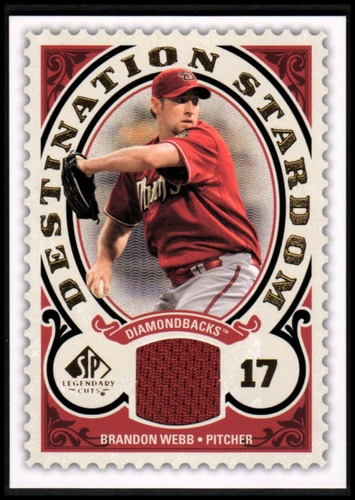 Photo of 2009 SP Legendary Cuts Destination Stardom Memorabilia #BW Brandon Webb