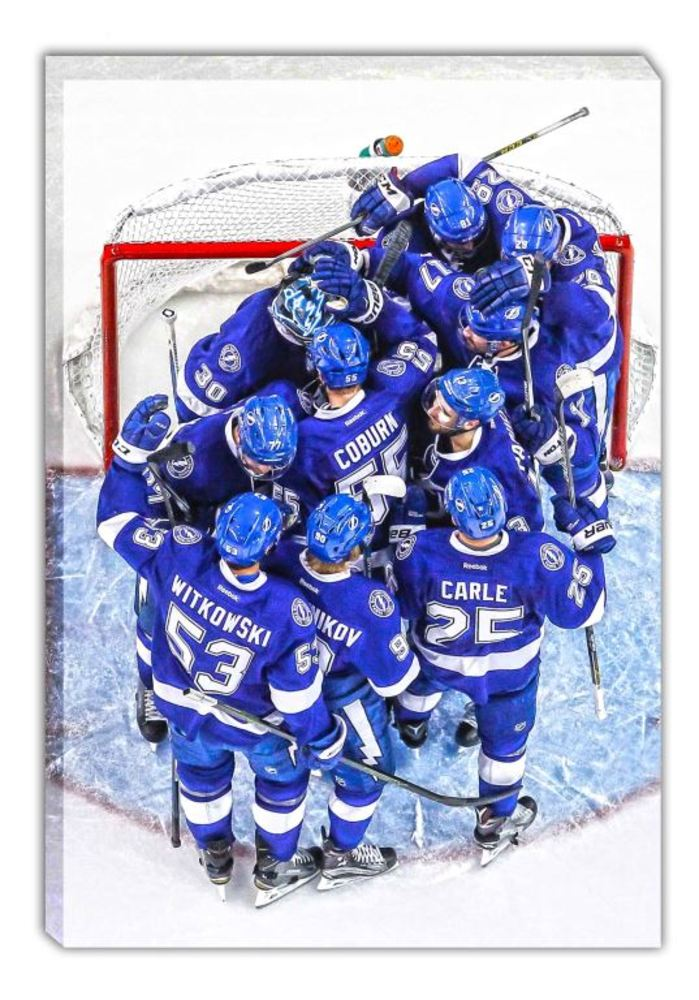 Tampa Bay Lightning - 20x29 Tampa Bay Lightning Celebration Canvas - 2016 Stanley Cup Playoffs