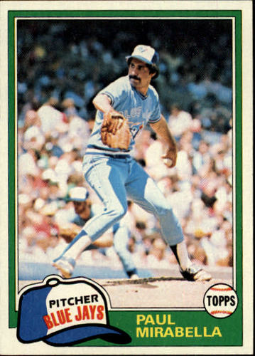 Photo of 1981 Topps #382 Paul Mirabella RC