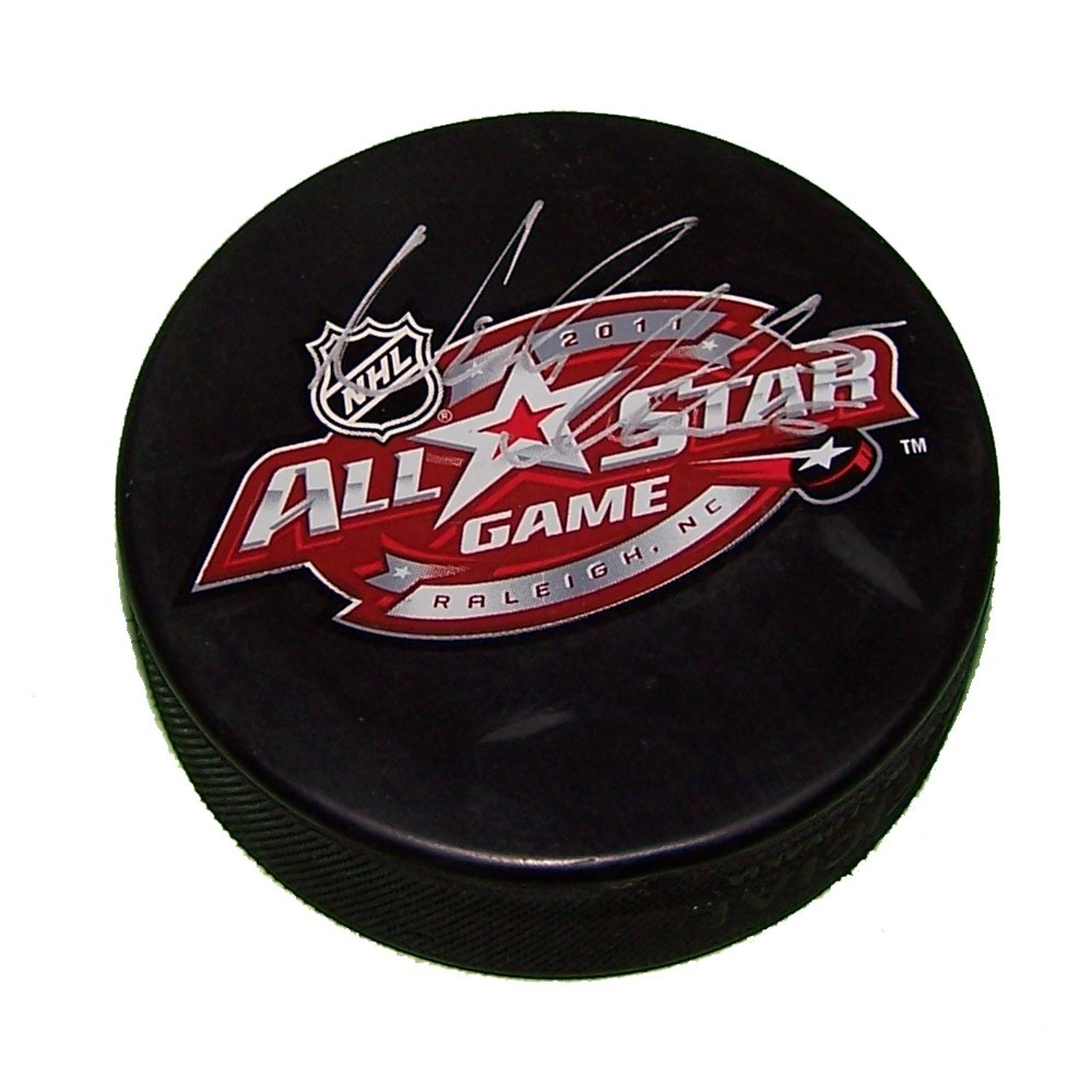 Nicklas Lidstrom Autographed 2011 All Star Puck-Detroit Red Wings