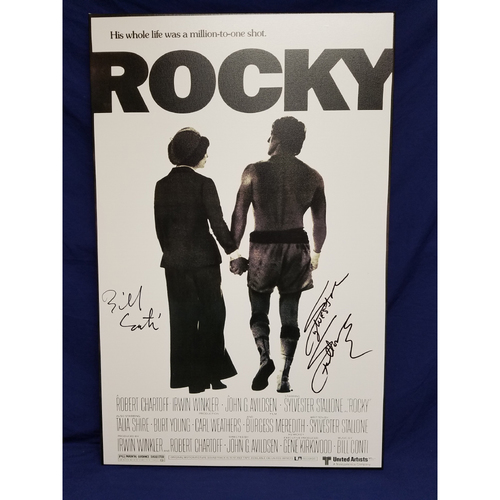 Photo of Kershaw's Challenge: Rocky Movie Poster Autographed by Sylvester Stallone