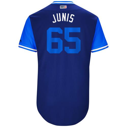 "Photo of Jake ""Junis"" Junis Kansas City Royals Game-Used Players Weekend Jersey"