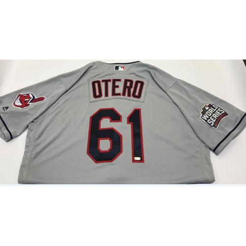 Photo of Dan Otero Team-Issued 2016 World Series Jersey