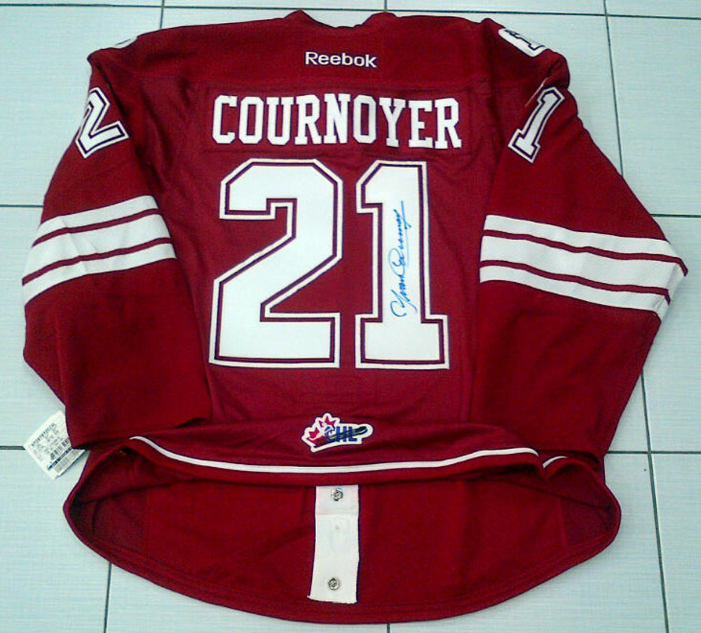 Yvan Cournoyer Autographed Montreal Jr Canadiens Authentic Pro QMJHL Hockey Jersey *Size 56* *Montreal Canadiens*