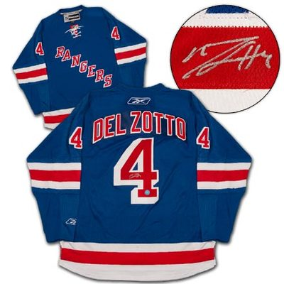 MICHAEL DEL ZOTTO New York Rangers SIGNED Reebok Premier Hockey Jersey