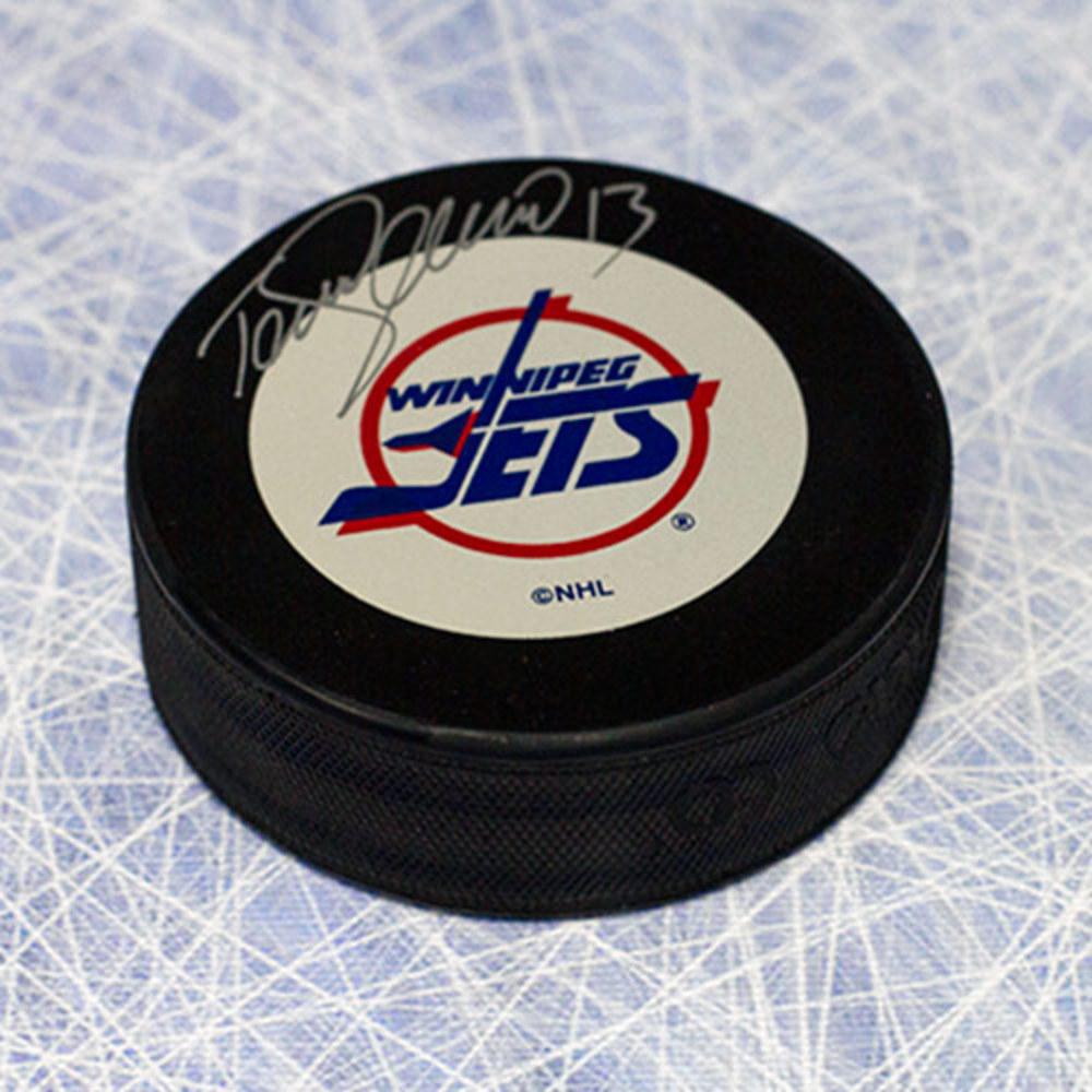 Teemu Selanne Winnipeg Jets Autographed Hockey Puck