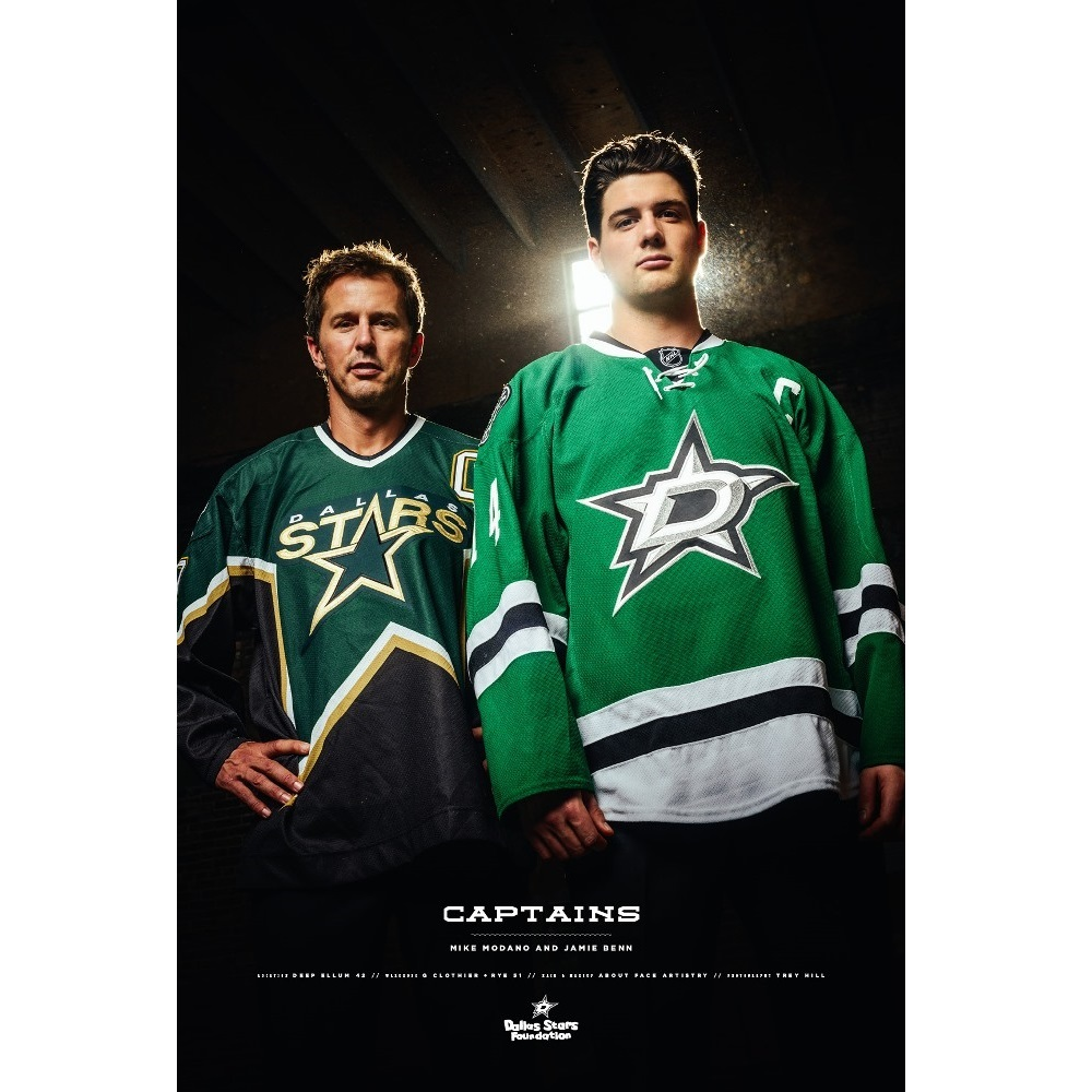 Dallas Stars Foundation Limited Edition Autographed Mike Modano and Jamie Benn Poster
