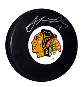 Jonathan Toews - Signed Chicago Blackhawks Logo Puck