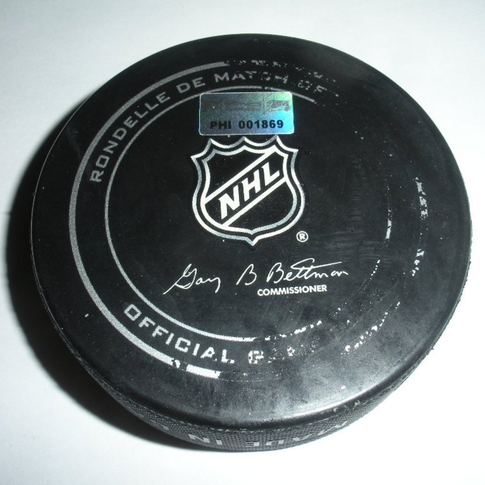 John Tavares - New York Islanders - Goal Puck - April 25, 2013 (Flyers Logo)