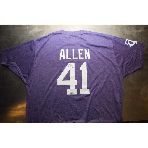 Photo of Autographed Neil Allen Prince Night Batting Practice T-Shirt
