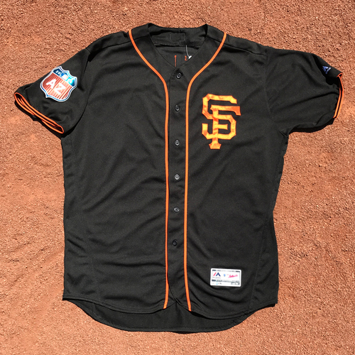 Photo of San Francisco Giants - Game-Used Jersey - 2016 Spring Training Jerseys
