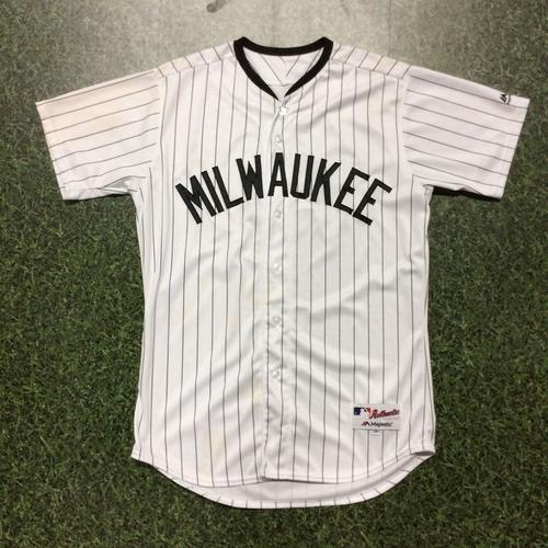 Photo of Orlando Arcia 2017 Game-Used Milwaukee Bears Jersey