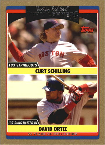 Photo of 2006 Topps Update Gold #308 C.Schilling/D.Ortiz TL