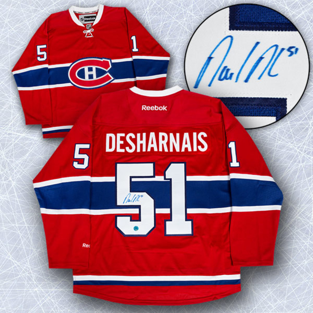 David Desharnais Montreal Canadiens Autographed Reebok Premier Hockey Jersey