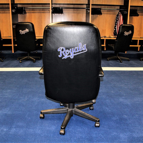 Photo of Mike Moustakas Game-Used Locker Chair - PICK UP ONLY